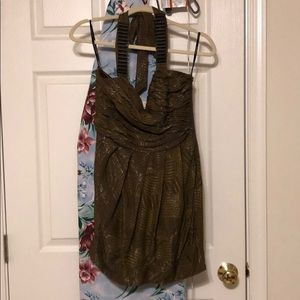 BNWT Bebe Olive Halter Dress Size Small